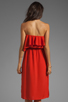 Image 4 of MM Couture by Miss Me Strapless Ruffle Dress in Red