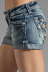 Image 5 of Miss Me Jeans Short Shorts in LT 41