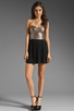 Image 2 of MINKPINK The Shining Sequin Mini Dress in Gold/Black