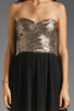 Image 5 of MINKPINK The Shining Sequin Mini Dress in Gold/Black