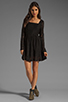 Image 2 of MINKPINK Lost Innocence Long Sleeve Lace Dress in Black