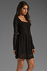 Image 3 of MINKPINK Lost Innocence Long Sleeve Lace Dress in Black