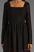 Image 5 of MINKPINK Lost Innocence Long Sleeve Lace Dress in Black