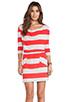 Image 1 of Market Wide Stripe Cassandra Dress in Red