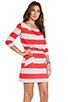 Image 2 of Market Wide Stripe Cassandra Dress in Red