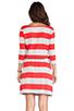 Image 3 of Market Wide Stripe Cassandra Dress in Red