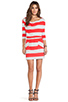 Image 4 of Market Wide Stripe Cassandra Dress in Red