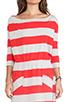 Image 5 of Market Wide Stripe Cassandra Dress in Red