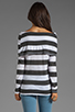 Image 2 of Market Charcoal Stripe Elsa Top in White