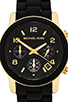 Image 2 of Michael Kors Runway Watch in Black & Gold