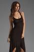 Image 1 of Michael Lauren Mac Asymmetrical Dress in Black