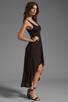 Image 3 of Michael Lauren Mac Asymmetrical Dress in Black