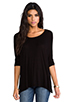 Image 1 of Michael Lauren Hunter Draped Tee in Black