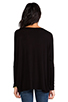 Image 3 of Michael Lauren Hunter Draped Tee in Black