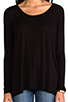 Image 4 of Michael Lauren Hunter Draped Tee in Black