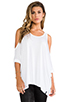 Image 1 of Michael Lauren Morris Oversized Open Shoulder Top in White