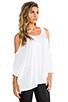 Image 2 of Michael Lauren Morris Oversized Open Shoulder Top in White