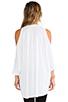 Image 3 of Michael Lauren Morris Oversized Open Shoulder Top in White
