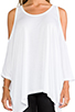 Image 4 of Michael Lauren Morris Oversized Open Shoulder Top in White