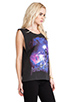 Image 2 of Motel Daft Punk Oversize Tank in Black