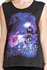Image 4 of Motel Daft Punk Oversize Tank in Black