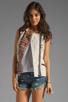 Image 1 of Maison Scotch Washed Linen Vest in Khaki
