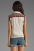 Image 3 of Maison Scotch Washed Linen Vest in Khaki