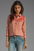 Image 1 of Maison Scotch Western Shirt in Dusty Rose