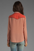 Image 2 of Maison Scotch Western Shirt in Dusty Rose
