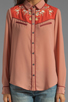 Image 3 of Maison Scotch Western Shirt in Dusty Rose