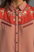 Image 4 of Maison Scotch Western Shirt in Dusty Rose