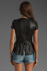 Image 2 of Muubaa Aquila Leather Peplum Shirt in Black