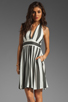 Image 1 of NEUW Daphne Dress in Black/White Stripes