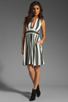 Image 2 of NEUW Daphne Dress in Black/White Stripes