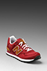 Image 1 of New Balance ML574 in Maroon w/ Brown