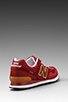 Image 4 of New Balance ML574 in Maroon w/ Brown