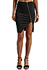 Image 1 of NICHOLAS Ponti Zip Wrap Skirt in Black