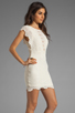 Image 3 of Nightcap Caletto Victorian Lace Mini Dress in Ivory
