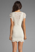 Image 4 of Nightcap Caletto Victorian Lace Mini Dress in Ivory