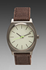 Image 1 of Nixon Gunsmith Collection The Time Teller in Gunmetal/Brown