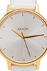 Image 2 of Nixon The Kensington Leather in All White & Gold Patent