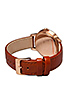Image 3 of Nixon The Kensington Leather in Rosegold/White