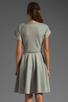 Image 4 of Norma Kamali Modern Vintage Active Short Sleeve Flared Dress in Grey with Silver Studs
