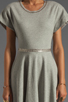 Image 5 of Norma Kamali Modern Vintage Active Short Sleeve Flared Dress in Grey with Silver Studs