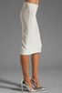 Image 2 of Norma Kamali Modern Vintage Jersey Pencil Skirt in White