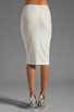 Image 3 of Norma Kamali Modern Vintage Jersey Pencil Skirt in White