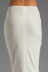 Image 6 of Norma Kamali Modern Vintage Jersey Pencil Skirt in White