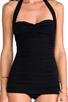 Image 4 of Norma Kamali Bill Mio One-piece in Black