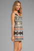 Image 3 of Nanette Lepore Aztec Linen Dress in Black Multi