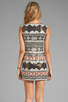 Image 4 of Nanette Lepore Aztec Linen Dress in Black Multi